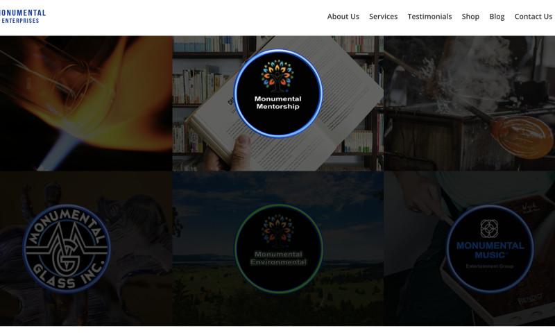 Blue Ocean Global Technology - Integrating 3 websites and developing a new website for Monumental Enterprises