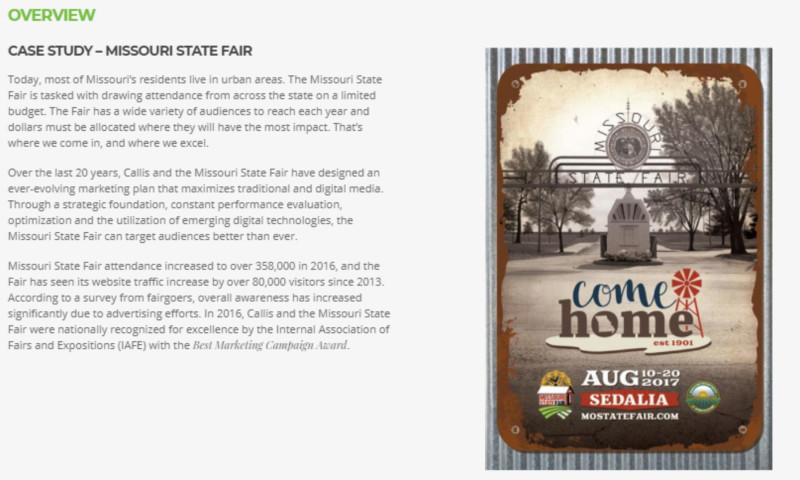 Callis Integrated Marketing - Missouri State Fair