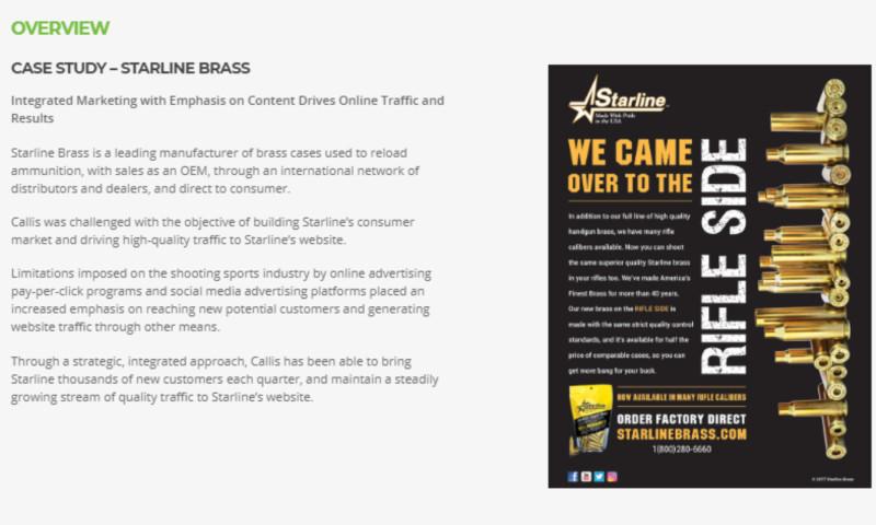 Callis Integrated Marketing - Starline