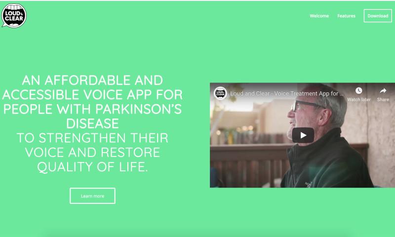 W3 Affinity - Parkinson's Mobile App Website Design