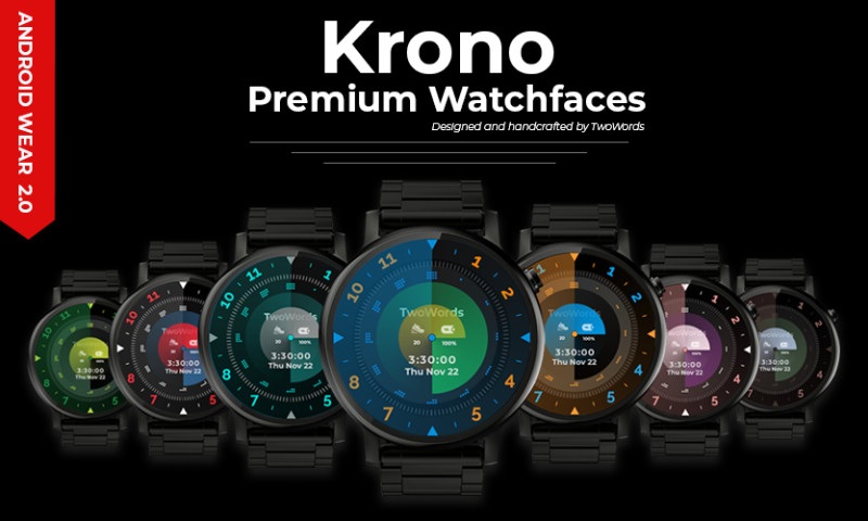 Goldenmace IT Solutions - Krono Premium Watchfaces for Android Wear smartwatches