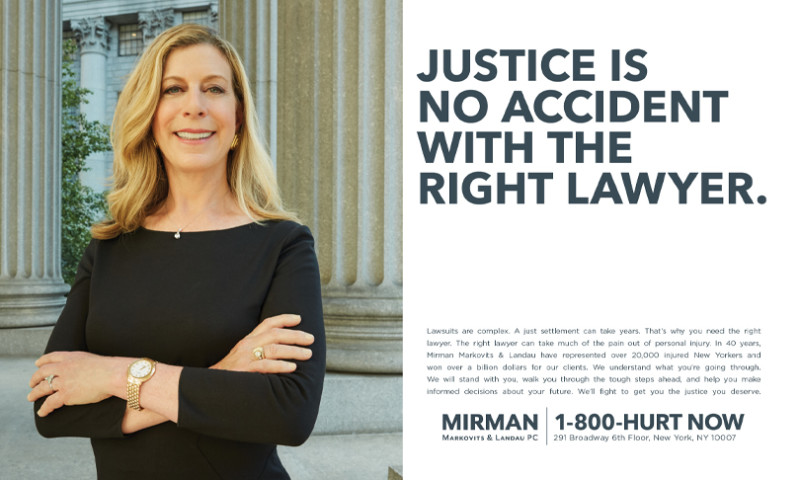 """IPNY - Mirman Markovits and Landau, """"Justice is no accident with the right lawyer"""""""
