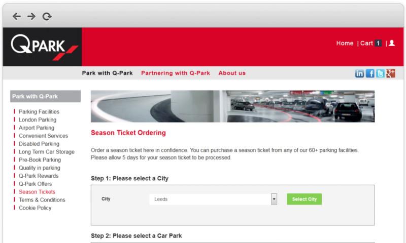 Click Agency - Season ticket ordering system for International car park operator