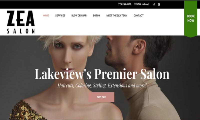Operation Technology - Zea Salon WordPress Design