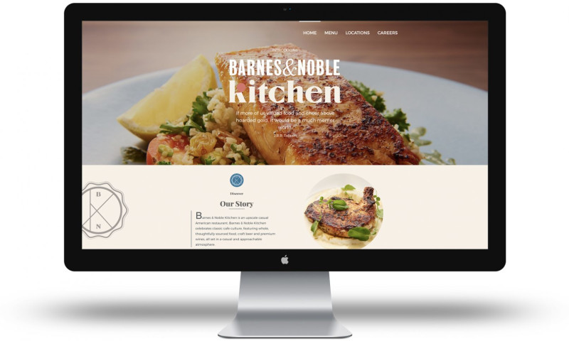 UNINCORPORATED - Barnes & Noble Kitchen - Website & Print Design