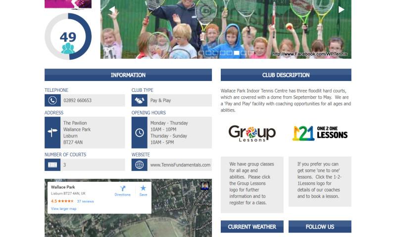 Techuz InfoWeb - Tennis Club App-UK