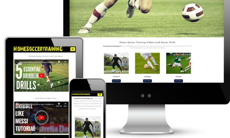 Red Spot Design - Home Soccer Training