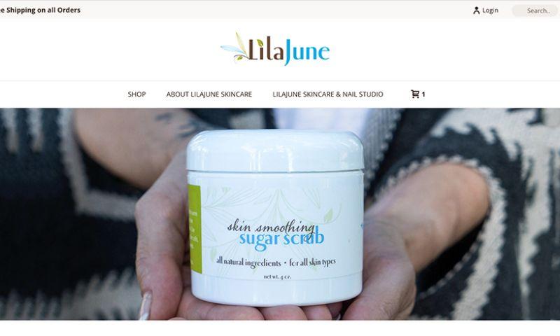 Bombastic Web Design and Marketing - LilaJune Skincare eCommerce website