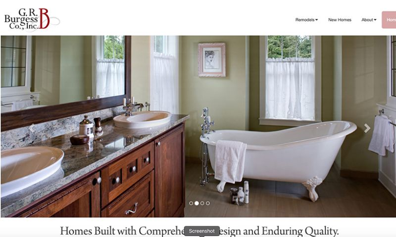 Bombastic Web Design and Marketing - G.R. Burgess Construction