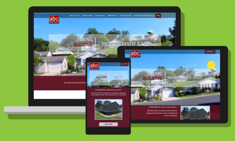 Mad Icarus Media - ABC Homes Website build and Branding