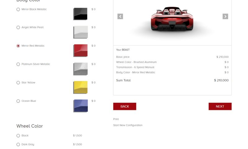 Techuz InfoWeb - Product Configurator