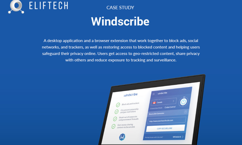 ELIFTECH - Windscribe – a solution to protect privacy and secure data online