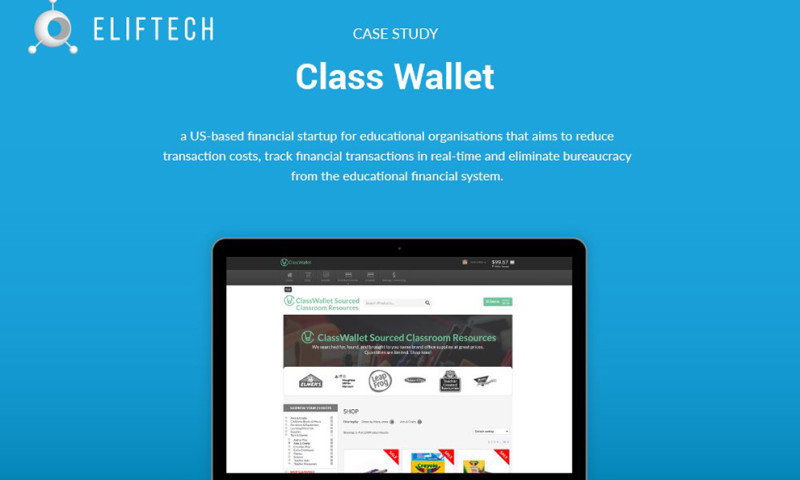ELIFTECH - ClassWallet – Innovative Financial and Payment System