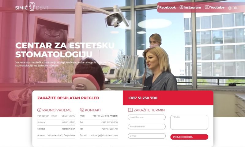 Mania Marketing - Web - Aesthetic dental center