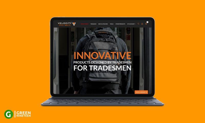 Green Nineteen - Website design for a toolbag manufacturer