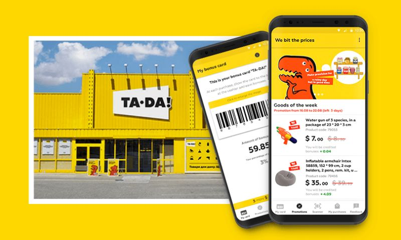 Woxapp - Android Mobile Application for TA-DA Network of Supermarkets