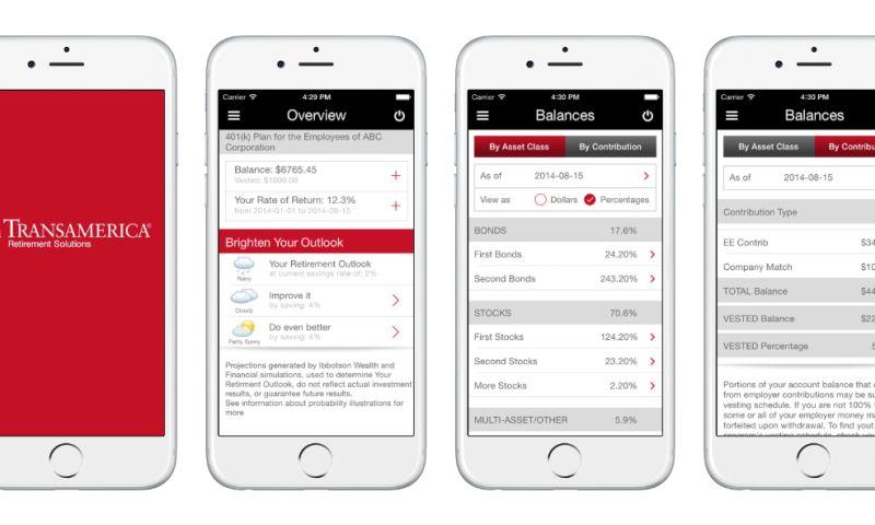 Invonto - Cross-platform mobile application for retirement portfolio management