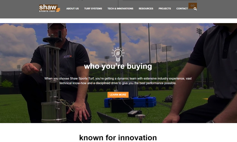 Wakefly, Inc. - Shaw Sports Turf Web Redesign & CMS Implementation