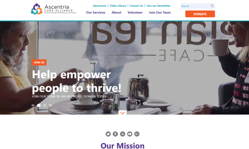 Wakefly, Inc. - Ascentria Care Alliance CMS Implementation & Web Redesign