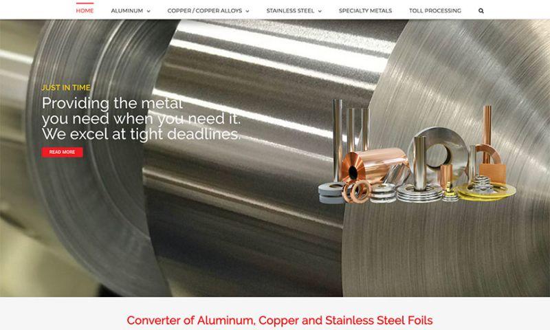 Charene Creative - Comet Metals Web Design