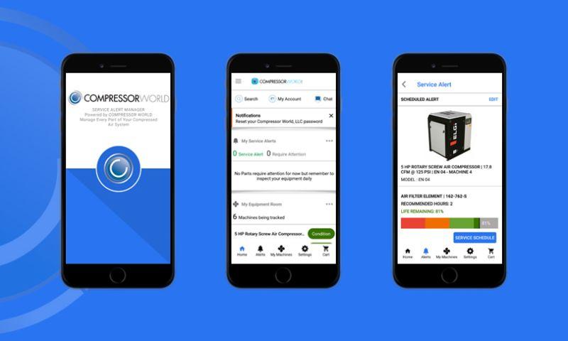 WebDesk Solution LLC - Compressor Service Alert Mobile App