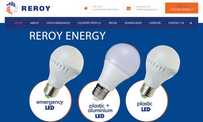 Sheeltech Ghana Limited - Website Development for Reroy Group
