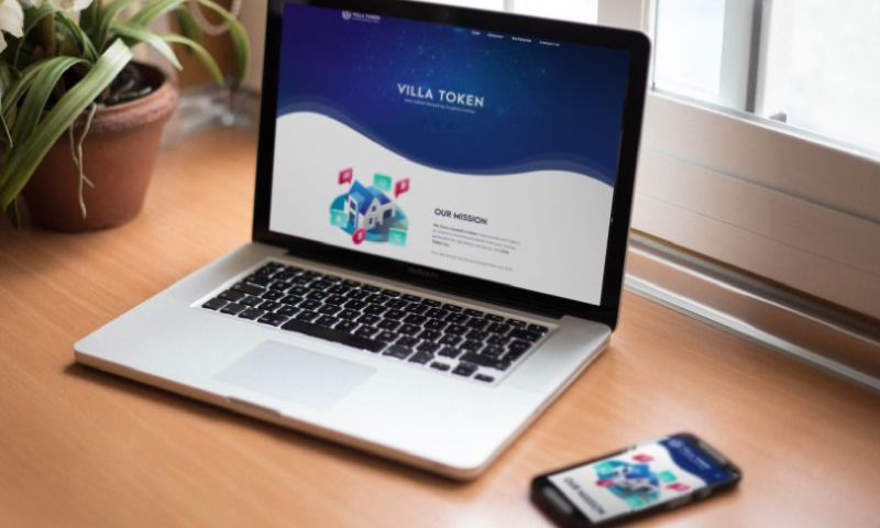 UPQODE - VillaToken Cryptocurrency WordPress WebSite (Design and Development)