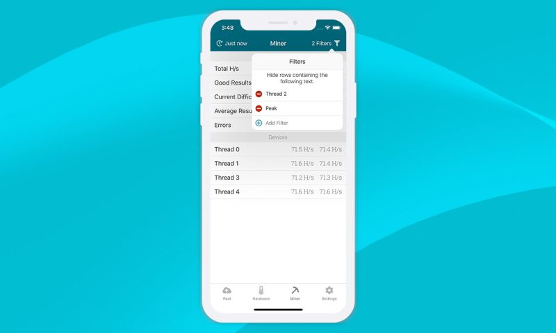 Click Agency - Cryptocurrency Mining Monitor App for iOS iPhone