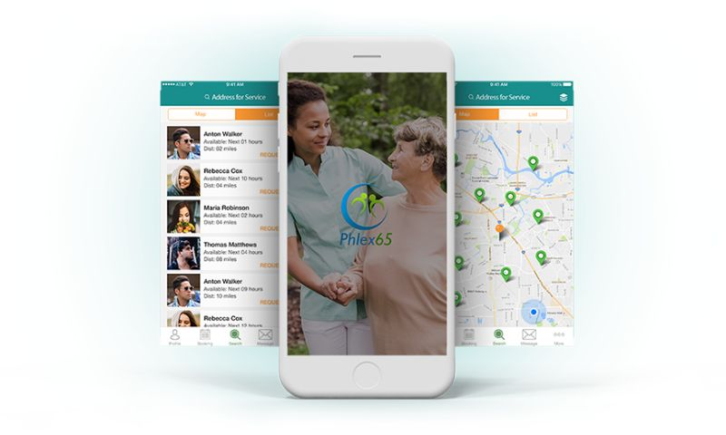 Biz4Solutions LLC - Phlex65 - On-Demand Caregiver App For Healthcare Industry