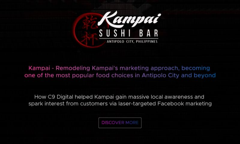 C9 Digital - C9 Digital Case Study - Kampai Sushi Bar