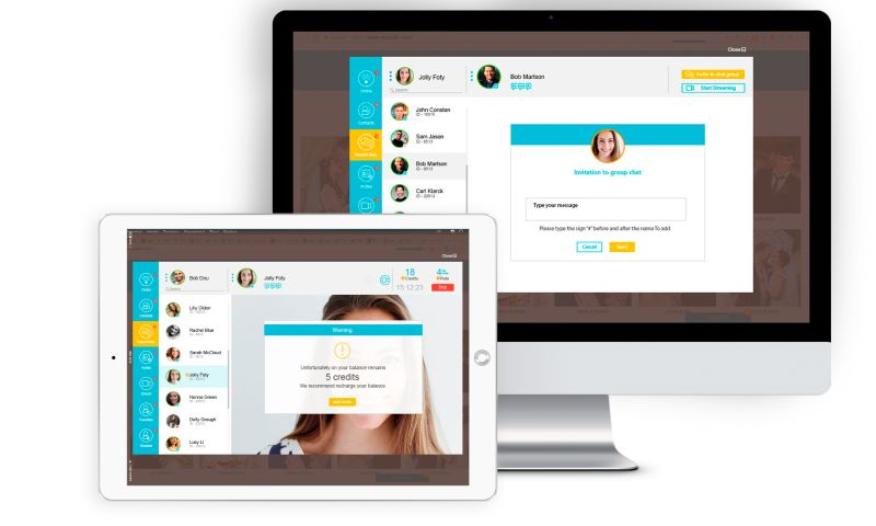 SEVEN - Chargeable Video & Audio P2P Chat