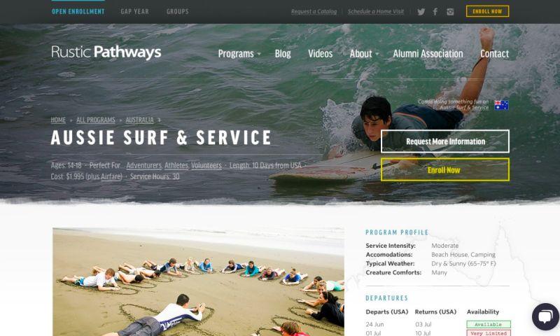 Cantilever - Rustic Pathways Website