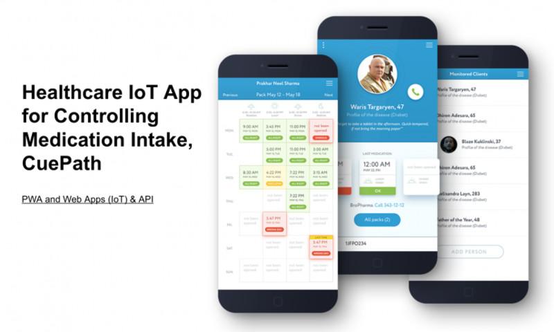 LOVATA - Healthcare IoT App for Controlling Medication Intake, CuePath