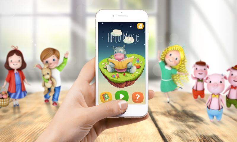 Live Animations - Hippo Magic AR App