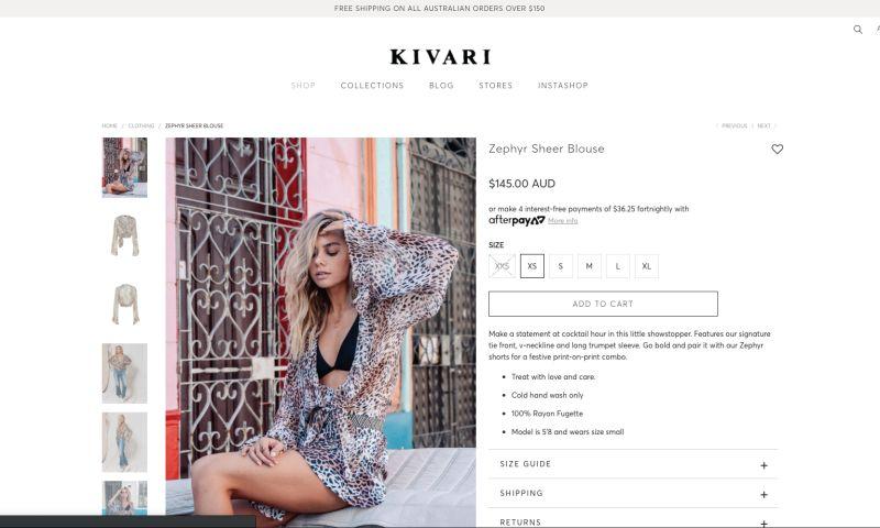 Blend Commerce LTD - Shopify Store Redesign - Kivari