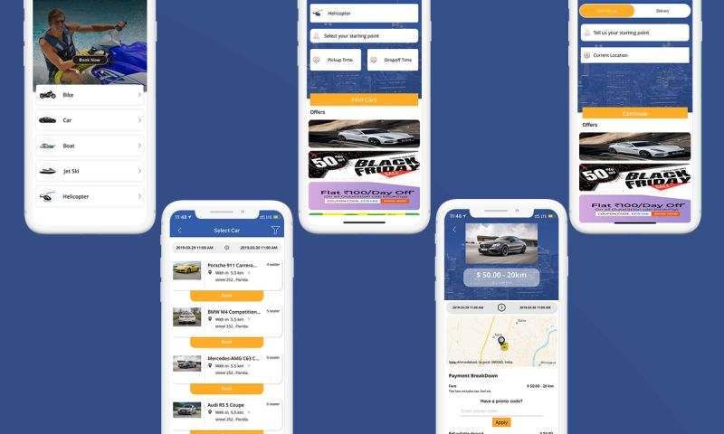 Excellent WebWorld - Develop a Car, Bike, Boat Rental Mobile App for Android and iOS Platforms