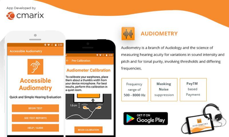 CMARIX TechnoLabs Pvt. Ltd. - Audiometry Mobile Application