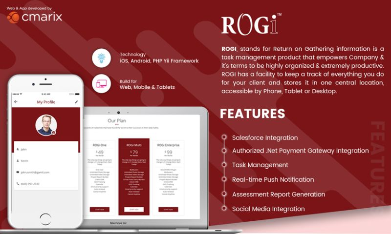 CMARIX TechnoLabs Pvt. Ltd. - Rogi Web Mobile Application