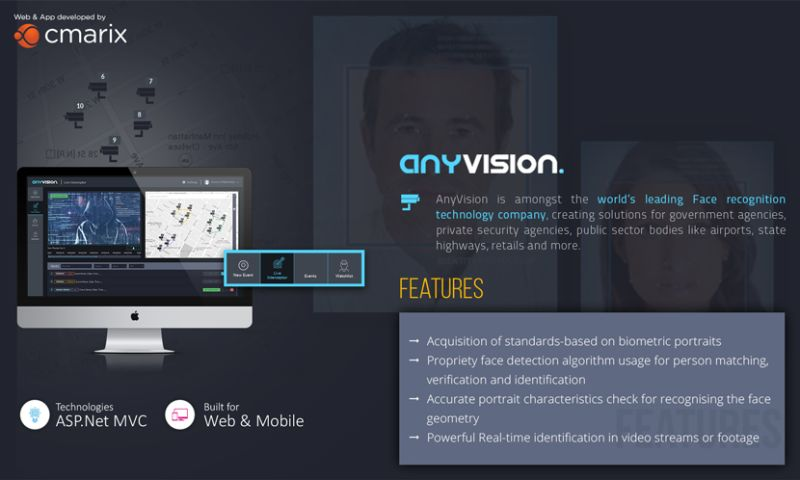 CMARIX TechnoLabs Pvt. Ltd. - Anyvision Web Mobile Application