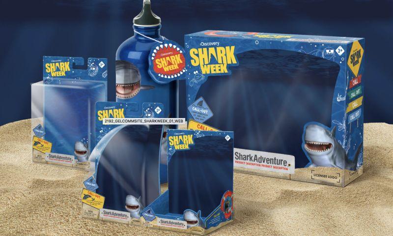 GelComm - Discovery Shark Week Packaging