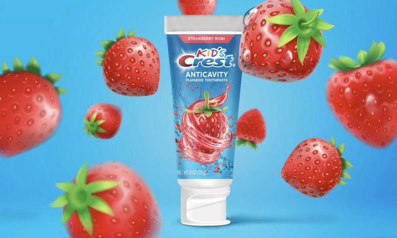 GelComm - Kid's Crest Strawberry Rush Packaging