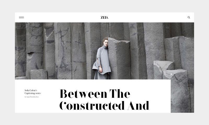 Fiction Design - Zed Magazine — Concept