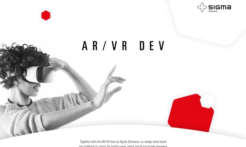 Sigma Software - AR/VR Landing Page