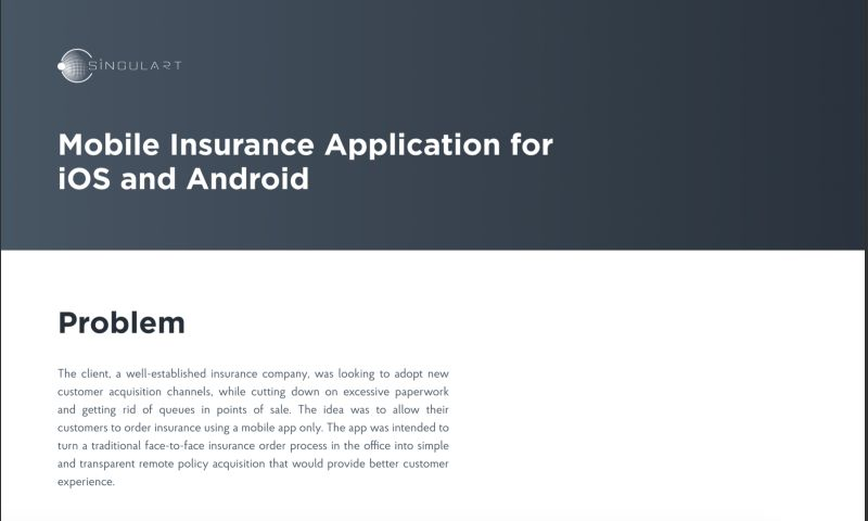 Singulart Systems - Mobile Insurance Application for iOS and Android