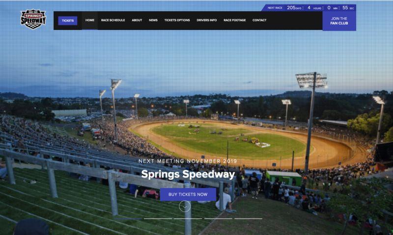 Grand Digital - Spring Speedway Website Design & Development