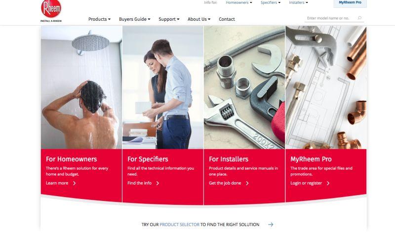 Grand Digital - Rheem Website Design & Development