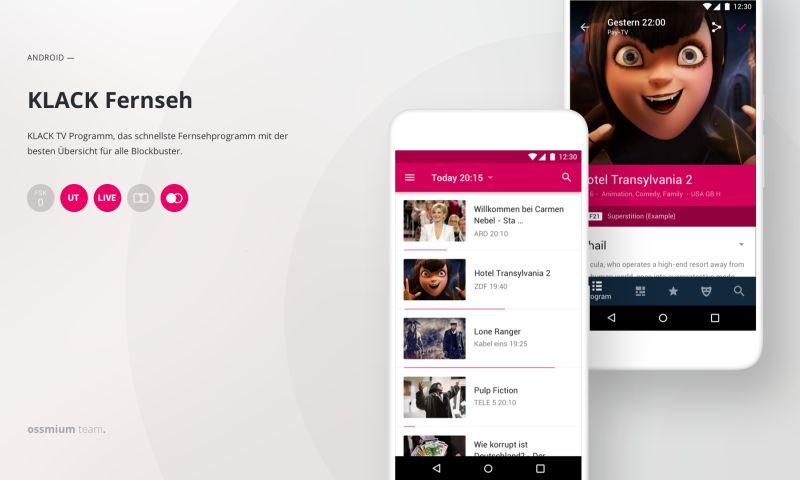 Ossmium - UI/UX design for app