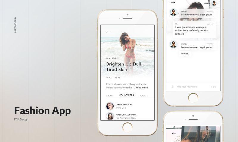 Ossmium - Fashion App design