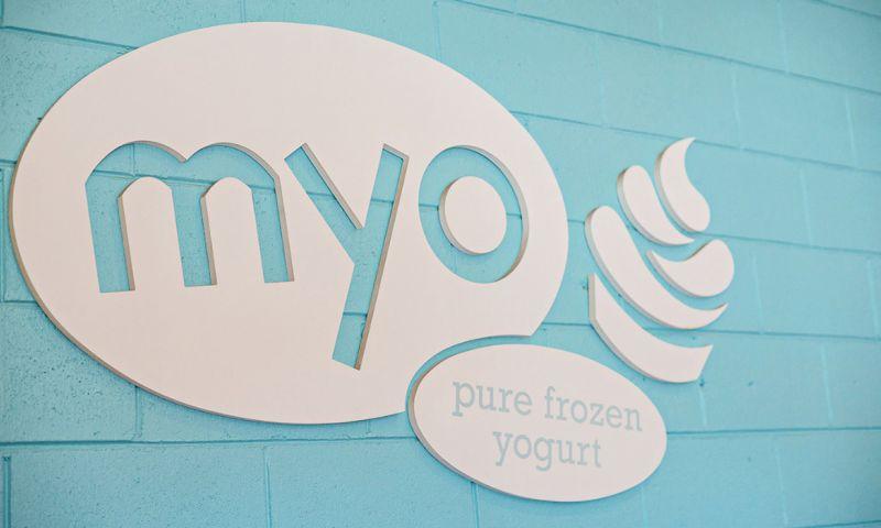 RadiantBrands - Myo Frozen Yogurt: Branding, Marketing, Signage, and Swag