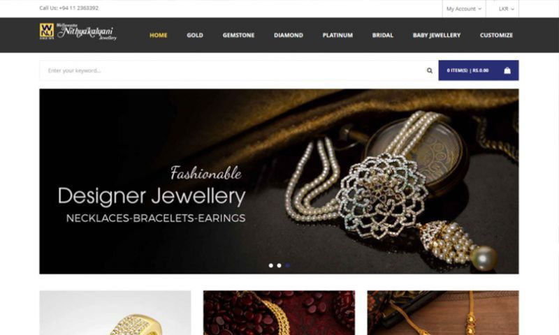 Cyber Concepts - Magento Based E Commerce Portal for Leading Jewelry Exporter in Sri Lanka